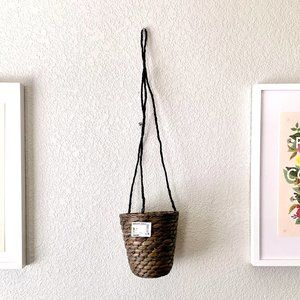 Ikea Brown Woven Hanging Planter